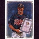 2008 UD Masterpieces Baseball #50 Joe Mauer - Minnesota Twins