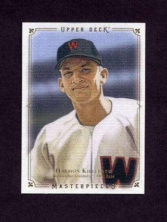 2008 UD Masterpieces Baseball #49 Harmon Killebrew - Washington Senators