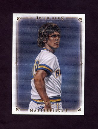 2008 UD Masterpieces Baseball #46 Robin Yount - Milwaukee Brewers