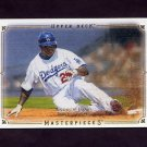 2008 UD Masterpieces Baseball #42 Andruw Jones - Los Angeles Dodgers