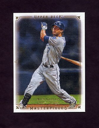 2008 UD Masterpieces Baseball #40 Alex Gordon - Kansas City Royals