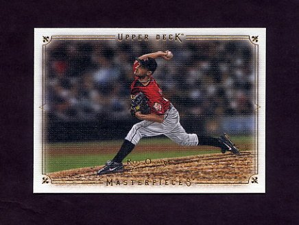 2008 UD Masterpieces Baseball #39 Roy Oswalt - Houston Astros