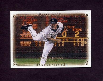2008 UD Masterpieces Baseball #32 Justin Verlander - Detroit Tigers