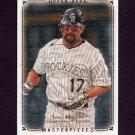 2008 UD Masterpieces Baseball #31 Todd Helton - Colorado Rockies