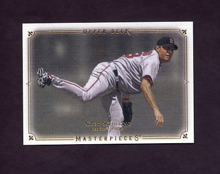 2008 UD Masterpieces Baseball #13 Curt Schilling - Boston Red Sox