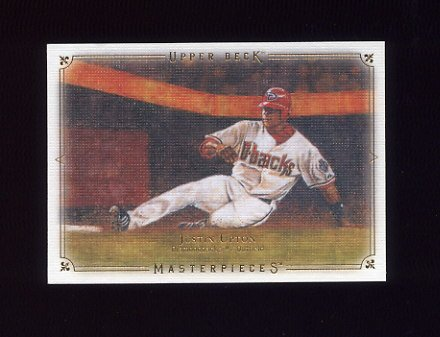 2008 UD Masterpieces Baseball #02 Justin Upton - Arizona Diamondbacks