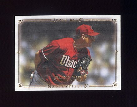 2008 UD Masterpieces Baseball #01 Brandon Webb - Arizona Diamondbacks