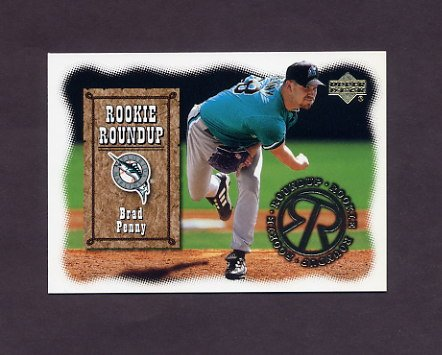 2001 Upper Deck Baseball Rookie Roundup #RR9 Brad Penny - Florida Marlins