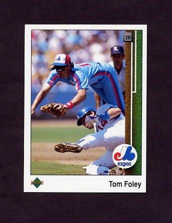 1989 Upper Deck Baseball #441 Tom Foley - Montreal Expos