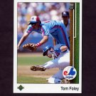 1989 Upper Deck Baseball #441 Tom Foley - Montreal Expos
