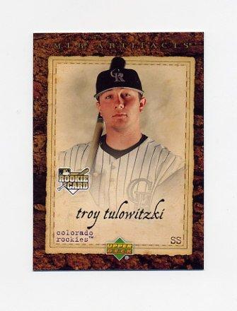 2007 Artifacts Baseball #100 Troy Tulowitzki RC - Colorado Rockies