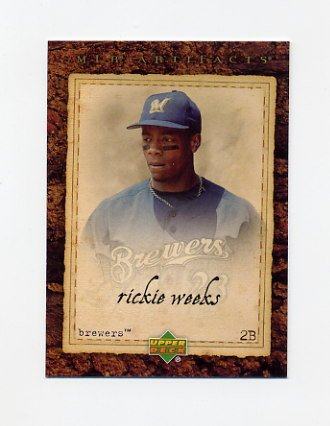 2007 Artifacts Baseball #053 Rickie Weeks - Milwaukee Brewers