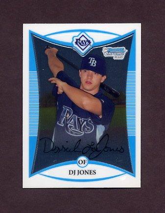 2008 Bowman Chrome Prospects Baseball #BCP193 D.J. Jones - Tampa Bay Rays