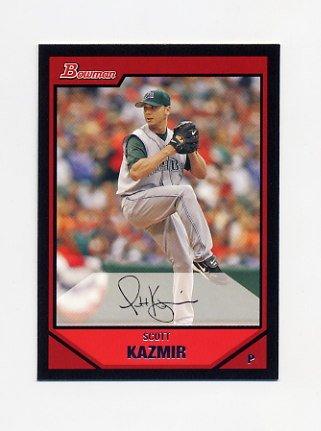 2007 Bowman Baseball #078 Scott Kazmir - Tampa Bay Devil Rays