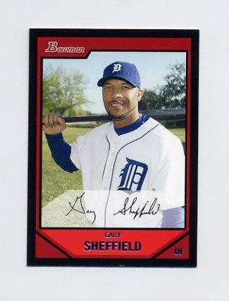 2007 Bowman Baseball #070 Gary Sheffield - Detroit Tigers