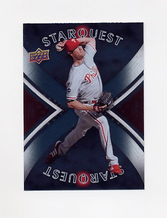 2008 Upper Deck Baseball Star Quest #38 Cole Hamels - Philadelphia Phillies