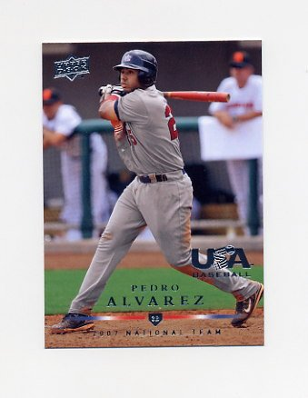 2008 Upper Deck Baseball USA National Team #USA17 Pedro Alvarez