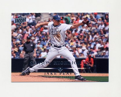 2008 Upper Deck Baseball #788 Jake Peavy SH - San Diego Padres