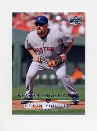 2008 Upper Deck Baseball #745 Kevin Youkilis SH - Boston Red Sox