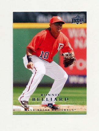 2008 Upper Deck Baseball #699 Ronnie Belliard - Washington Nationals