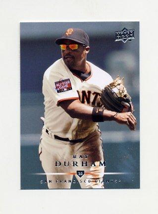 2008 Upper Deck Baseball #640 Ray Durham - San Francisco Giants
