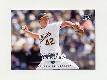 2008 Upper Deck Baseball #599 Rich Harden - Oakland A's