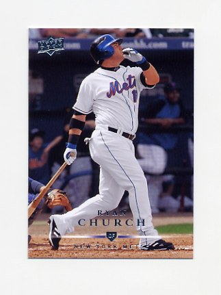 2008 Upper Deck Baseball #576 Ryan Church - New York Mets