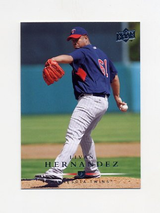 2008 Upper Deck Baseball #560 Livan Hernandez - Minnesota Twins