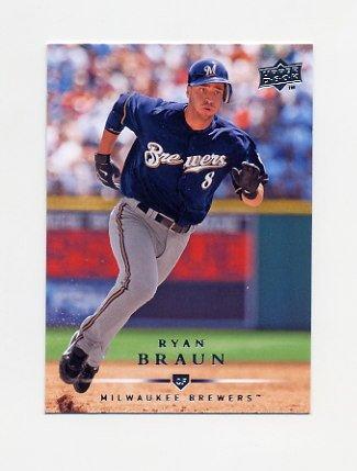 2008 Upper Deck Baseball #551 Ryan Braun - Milwaukee Brewers