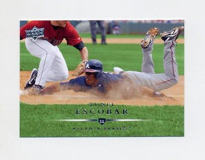 2008 Upper Deck Baseball #417 Yunel Escobar - Atlanta Braves