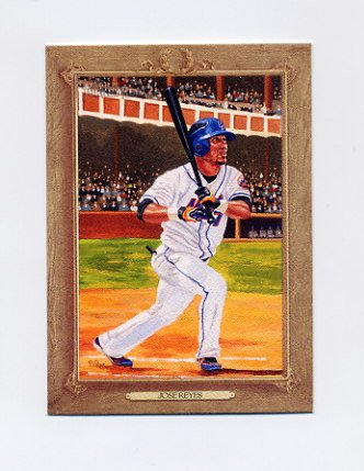 2007 Topps Turkey Red Baseball #166 Jose Reyes - New York Mets