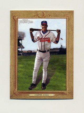 2007 Topps Turkey Red Baseball #040 Chipper Jones - Atlanta Braves