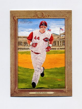 2007 Topps Turkey Red Baseball #021 Adam Dunn - Cincinnati Reds