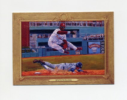 2007 Topps Turkey Red Baseball #010 Jimmy Rollins - Philadelphia Phillies