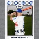 2008 Topps Update Baseball #UH194 Gary Bennett - Philadelphia Phillies