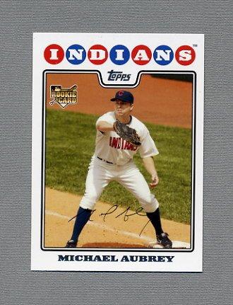 2008 Topps Update Baseball #UH141 Michael Aubrey RC - Cleveland Indians