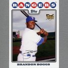 2008 Topps Update Baseball #UH111 Brandon Boggs RC - Texas Rangers