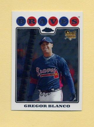 2008 Topps Chrome Baseball #203 Gregor Blanco RC - Atlanta Braves
