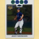 2008 Topps Chrome Baseball #192 Jeff Niemann RC - Tampa Bay Rays
