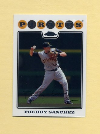 2008 Topps Chrome Baseball #125 Freddy Sanchez - Pittsburgh Pirates