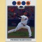 2008 Topps Chrome Baseball #117 Pedro Martinez - New York Mets