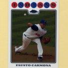 2008 Topps Chrome Baseball #093 Fausto Carmona - Cleveland Indians