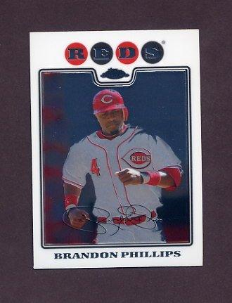 2008 Topps Chrome Baseball #072 Brandon Phillips - Cincinnati Reds