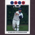 2008 Topps Chrome Baseball #045 Carlos Zambrano - Chicago Cubs