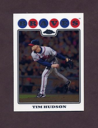 2008 Topps Chrome Baseball #037 Tim Hudson - Atlanta Braves