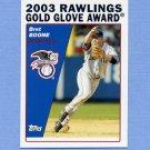 2004 Topps Baseball #699 Bret Boone GG - Seattle Mariners