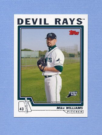 2004 Topps Baseball #598 Mike Williams - Tampa Bay Devil Rays