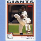 2004 Topps Baseball #580 Jerome Williams - San Francisco Giants