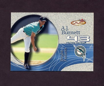 2001 Fleer Futures Baseball #202 A.J. Burnett BF - Florida Marlins