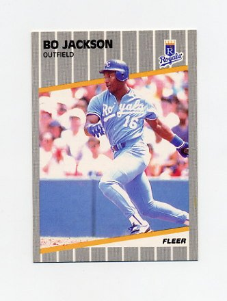 1989 Fleer Baseball #285 Bo Jackson - Kansas City Royals